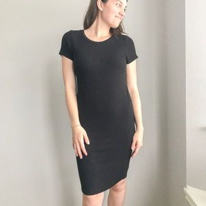 Fitted Ribbed Maternity Dress